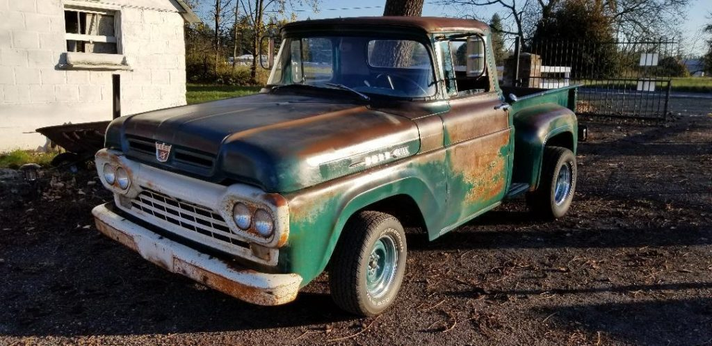 solid 1960 Ford F 100 pickup vintage