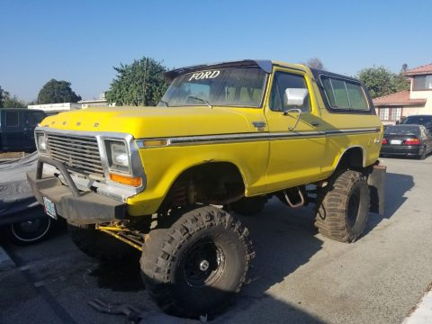 custom monster 1979 Ford Bronco Ranger vintage for sale