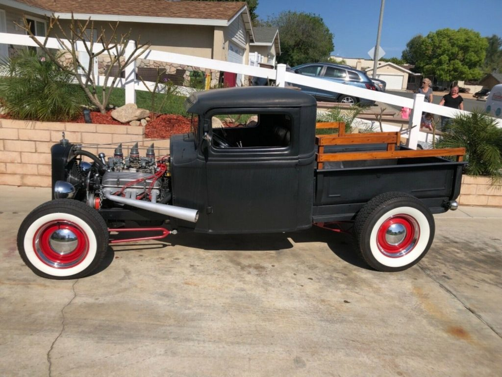 customized 1934 Ford Model A pickup vintage