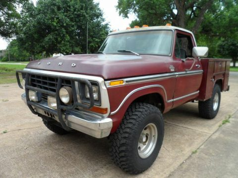 lifted 1979 Ford F 150 Ranger Lariat pickup vintage for sale