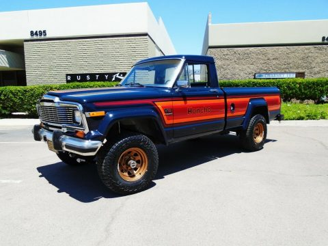 newly installed lift 1982 Jeep J10 Honcho pickup vintage for sale