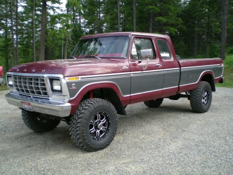 perfectly customized 1979 Ford F 250 Custom pickup vintage for sale