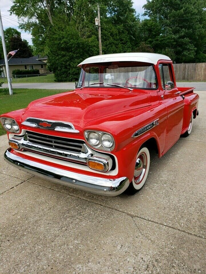 restored 1959 Chevrolet 3100 pickup vintage