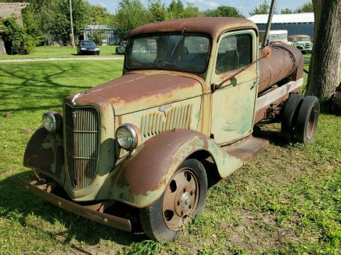 solid project 1935 Ford Pickup tanker vintage for sale