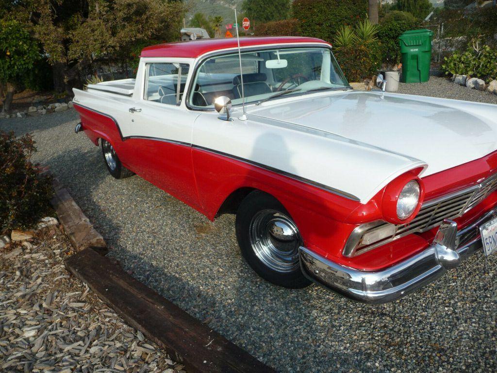 restored 1957 Ford Ranchero pickup vintage