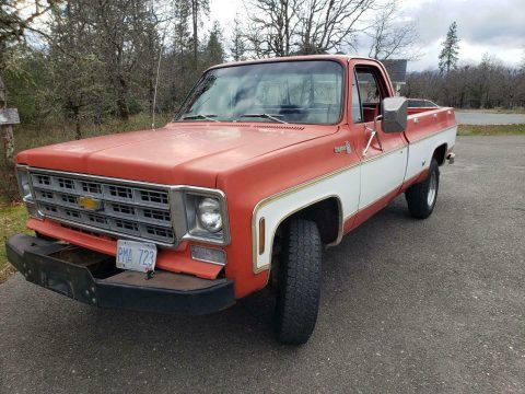 awesome daily driver 1977 Chevrolet Cheyenne pickup vintage for sale